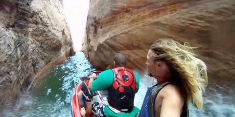 Con una Moto d'Acqua nello Strettissimo Canyon!