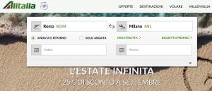 Carnet Voli Alitalia Roma – Milano