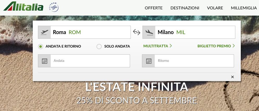 Alitalia-Roma-Milano