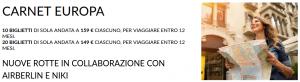 Carnet voli Alitalia per l'Europa